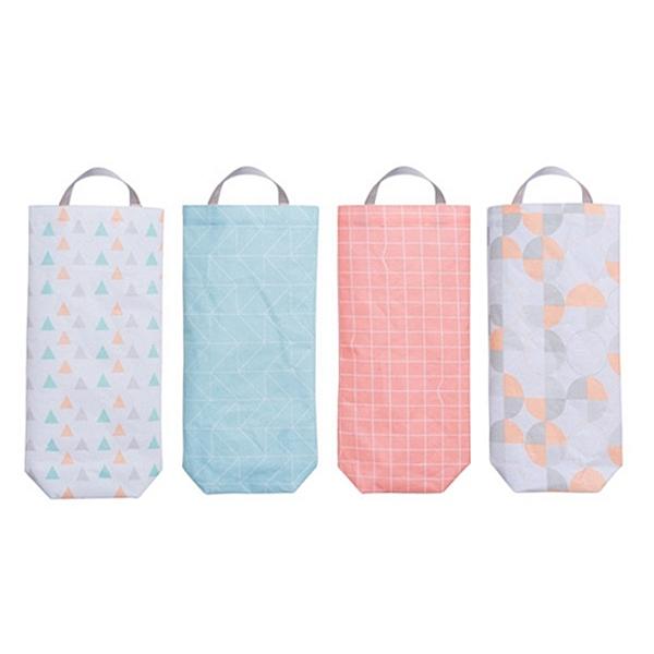 可掛式塑膠袋環保收納袋(1入) 顏色隨機出貨【小三美日】
