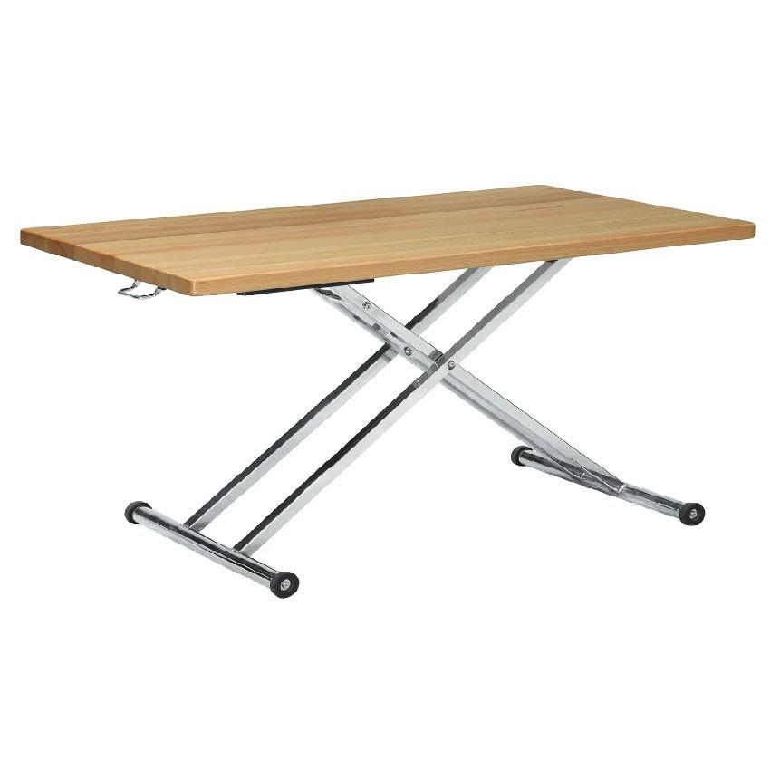 120cm升降大茶几-e380-3實木原木玻璃 大理石長方桌 大小邊几 圓桌  金滿屋
