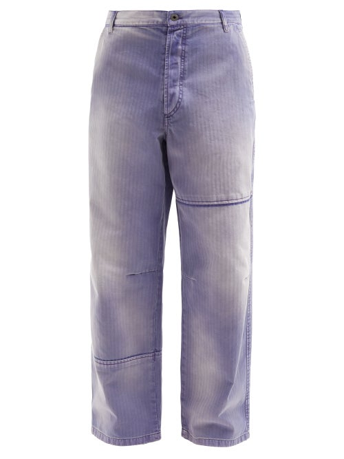 Valentino - Washed Wide-leg Jeans - Mens - Purple