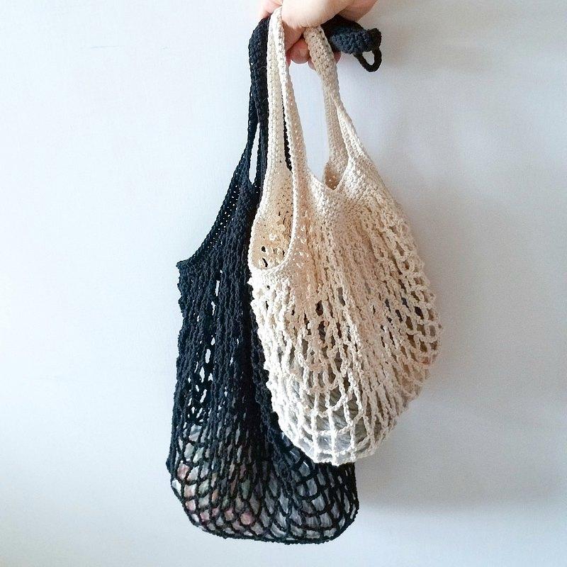 鉤針編織課 文青風 編織網袋