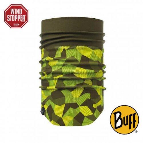 【西班牙BUFF】亮綠迷彩 WINDSTOPPER防風保暖領巾 BF115377-845