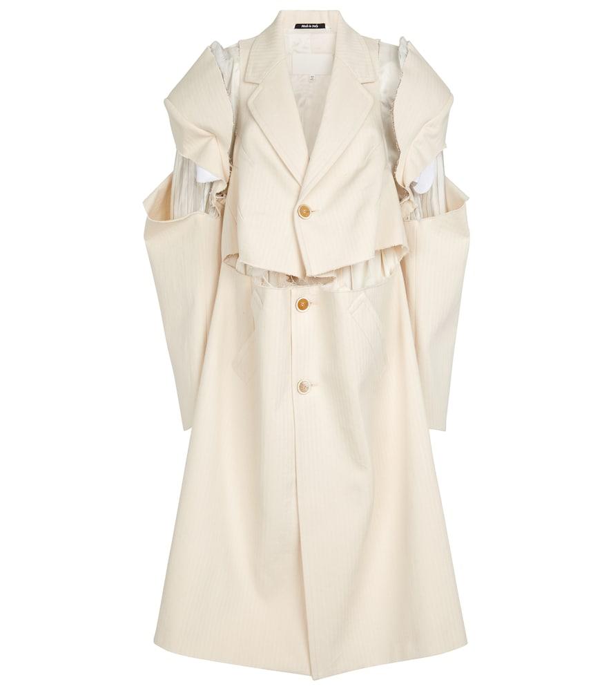 Deconstructed cotton coat