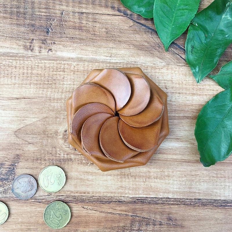 意大利Buttero一鍵式硬幣盒駱駝