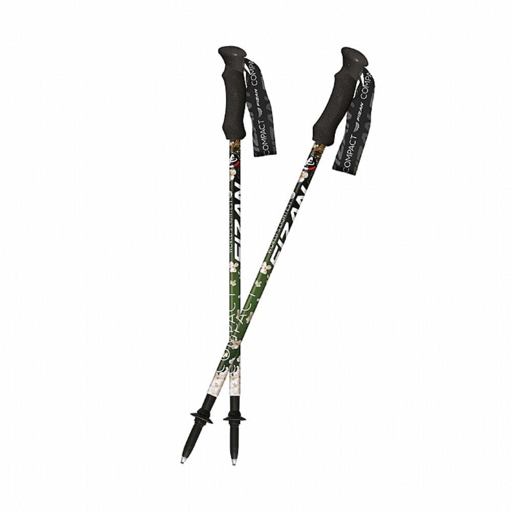 FIZAN 超輕三節式健行登山杖(2入) 油桐花