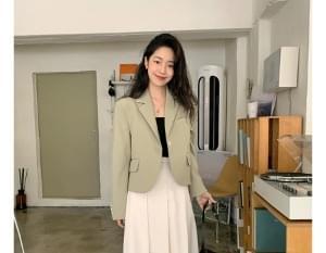 韓國空運 - Ren line single short jacket 夾克