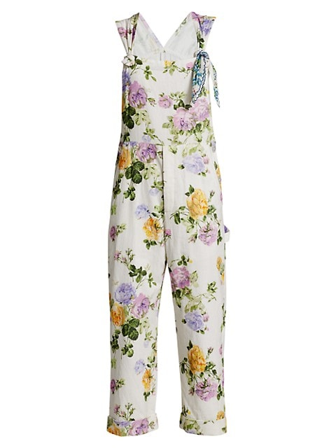Daffy Printed Floral Overalls