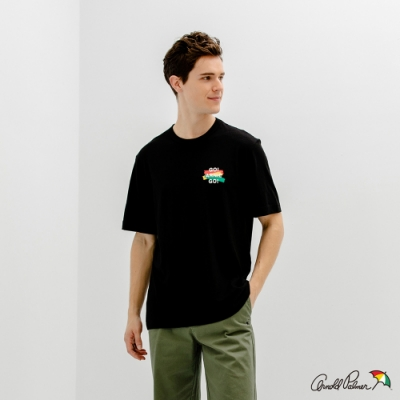 Arnold Palmer -男裝-標語小LOGO T恤-黑色