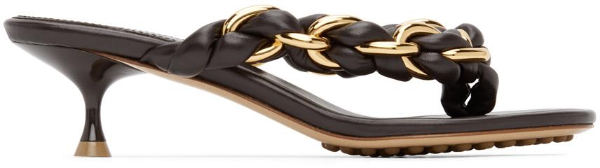 Bottega Veneta 棕色 Dot 凉鞋