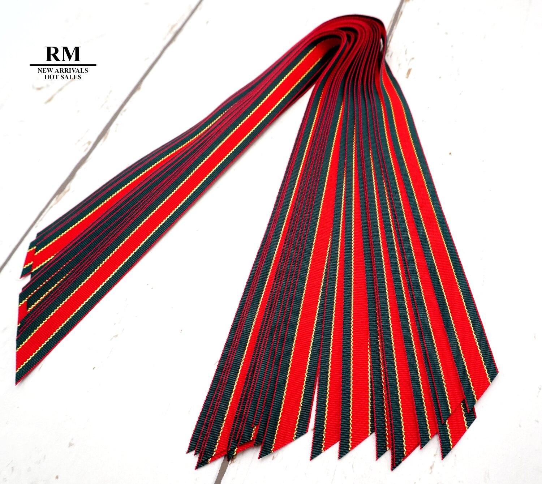 PP1760-6 聖誕節紅綠金萬用小緞帶-15MM 45度斜角切 包裝材料 裝飾材料