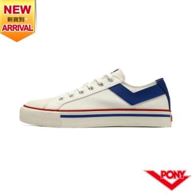 【PONY】Shooter 復古經典帆布鞋 男鞋-白藍