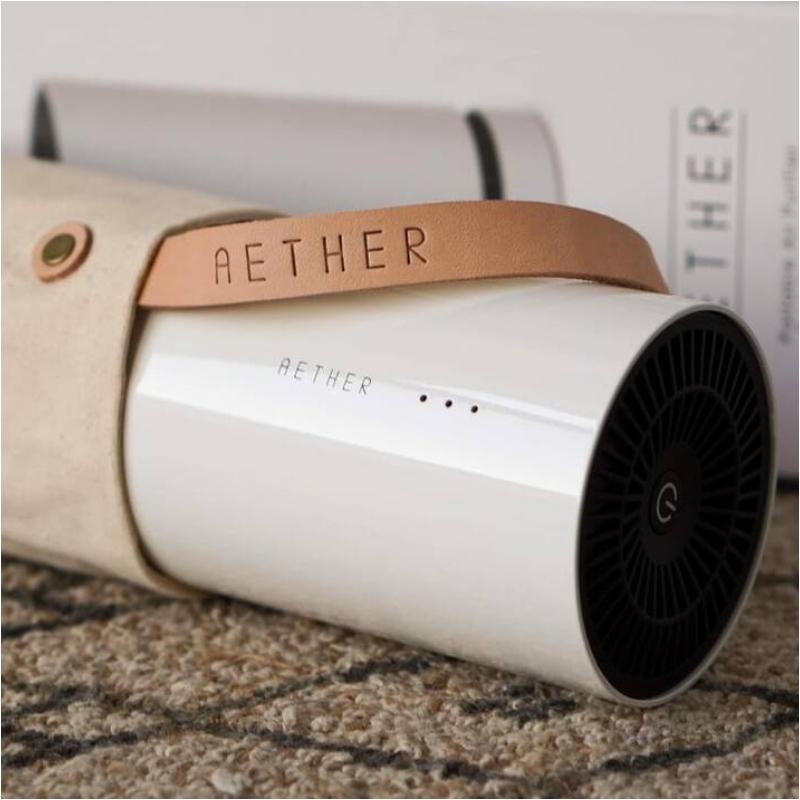 AETHER 攜帶型空氣清淨機 三入 送原廠手提袋三個 三台珍珠白