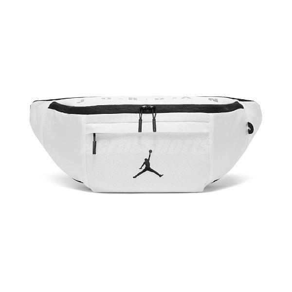 NIKE 腰包 Jordan Waist Pack 白 黑 男女款 斜背包 喬丹 外出 隨身小包【ACS】 JD2123012GS-002