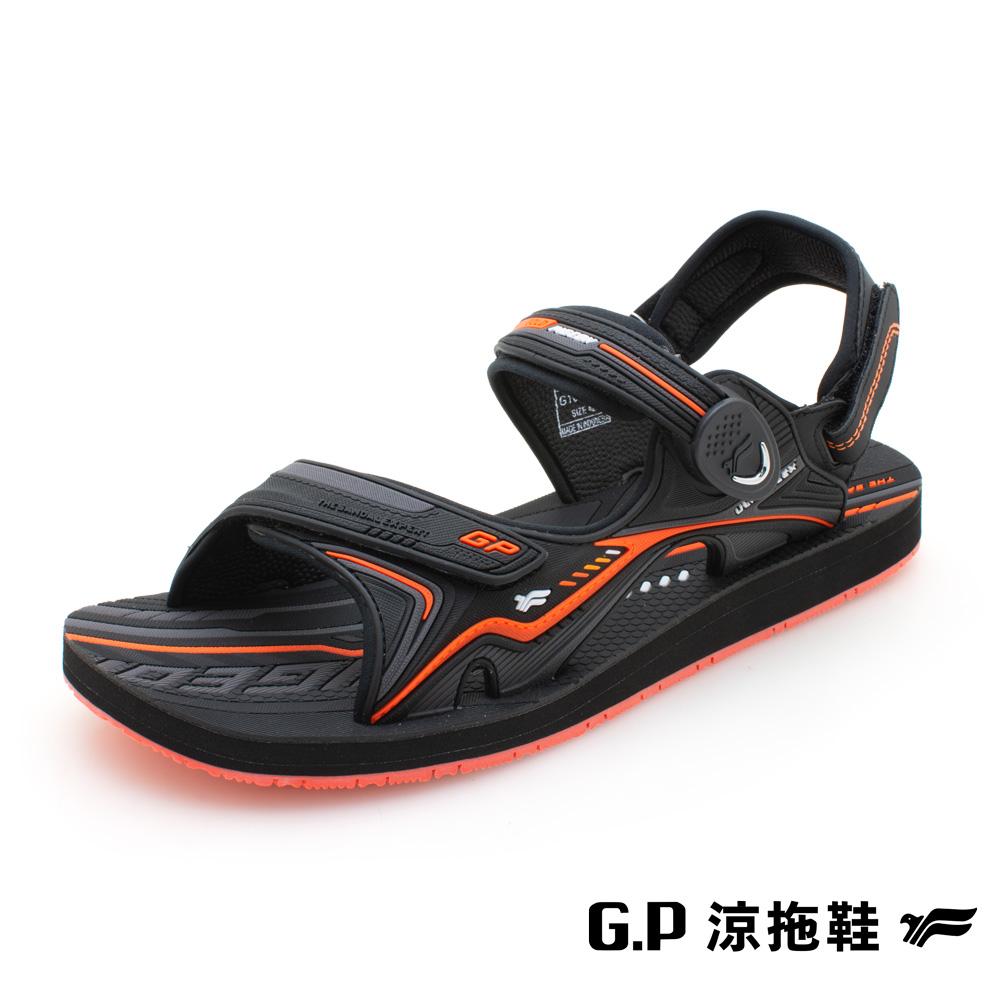 【G.P 男款簡約磁扣兩用涼拖鞋】G1671M-42 橘色 (SIZE:40-44 共三色)
