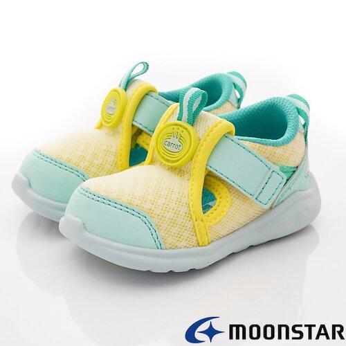 日本月星機能童鞋-速乾可機洗寶寶學步款-CRB1287黃 -(13cm-13.5cm)
