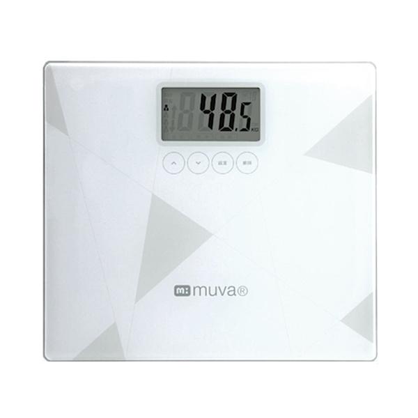 來而康 MUVA SA5403 健康幾何學BMI電子體重計(典雅白)