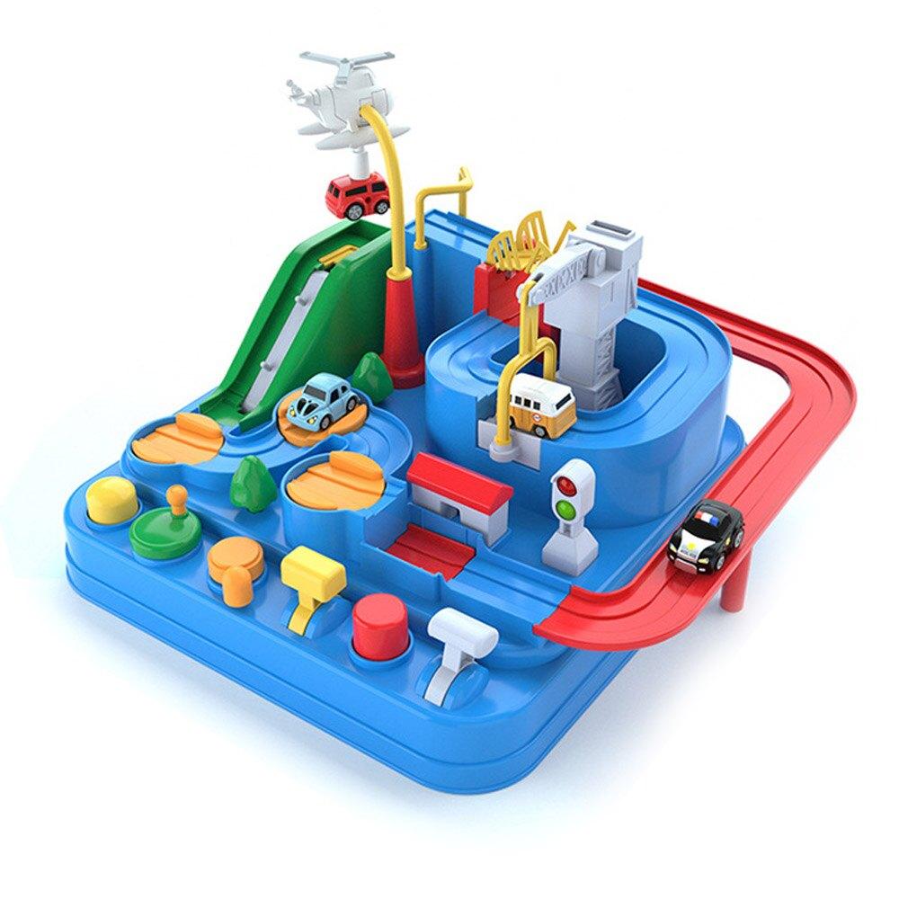 Baby童衣 親子益智玩具 冒險闖關遊戲 汽車軌道玩具車 88706