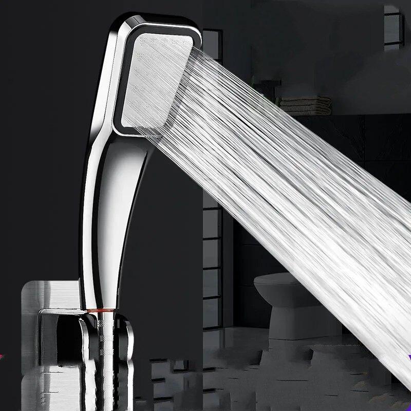 300孔增壓花灑套裝淋浴噴頭節水浴室淋浴手持方形花灑蓮蓬頭【艾莎嚴選】