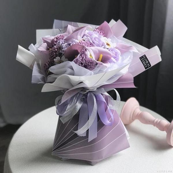 馬蹄蓮玫瑰雛菊康乃馨香皂花束永生仿真花母親節送花女生生日禮物 創意家居生活館