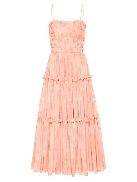 Textural Tiered Midi Dress