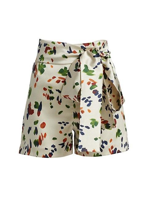 Goulue Silk Blend Shorts