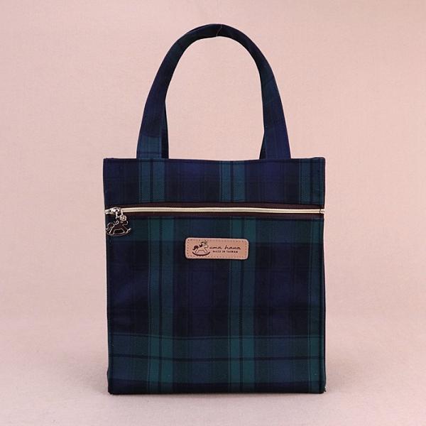 雨朵防水包 u401-12 格紋朴荷提袋(餐袋)