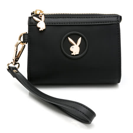 PLAYBOY - 零錢包附手挽帶 Breeze系列 - 黑色