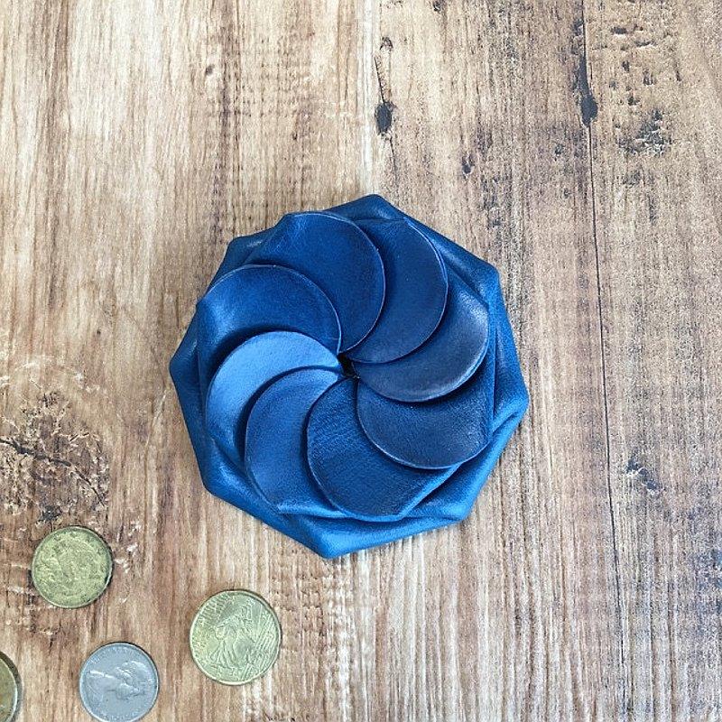 意大利Buttero一鍵式硬幣盒海軍藍