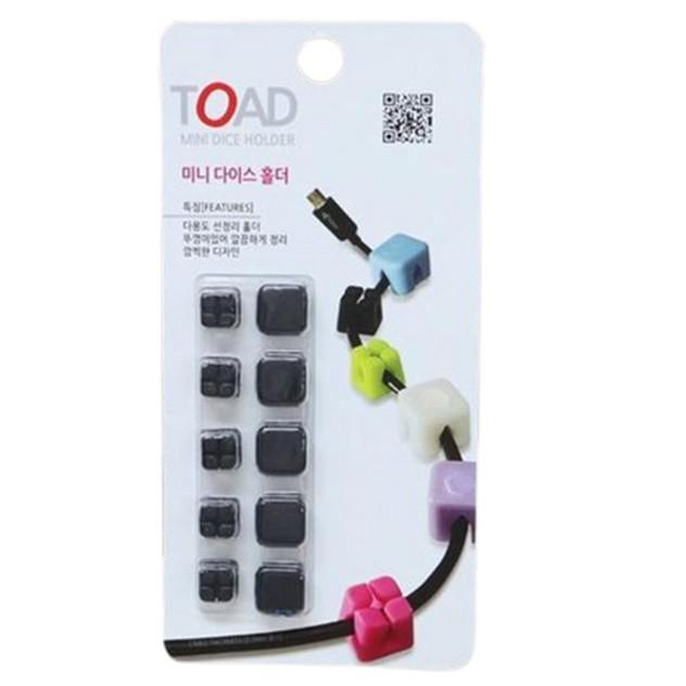韓國TOAD 黏貼式(3M背膠) 附蓋固定收線理線器 5入組 黑色 160310
