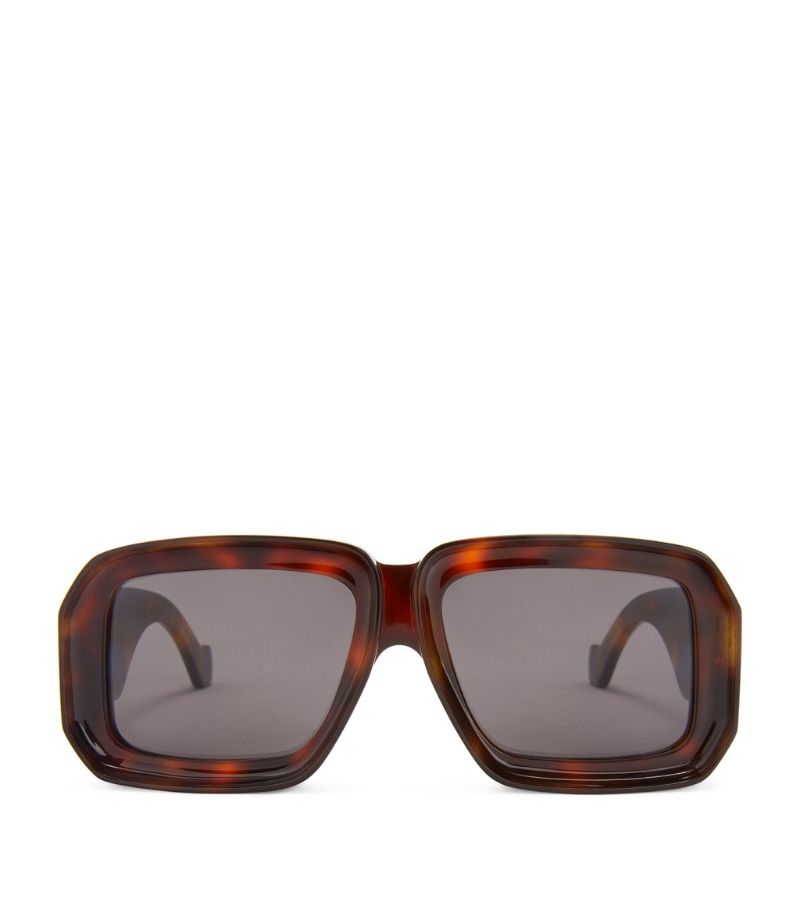 Loewe + Paula'S Ibiza Tortoiseshell Diving Mask Sunglasses