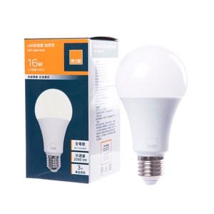 (組)特力屋16WLED球泡燈-自然色GR01-3入