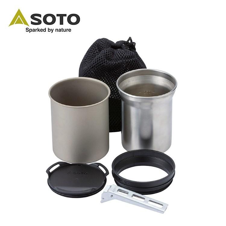 SOTO 日本 鈦杯/不鏽鋼杯組 SOD-520 環保杯 保溫杯 不鏽鋼杯 露營 登山 野營 綠野山房