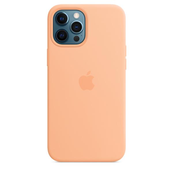 iPhone 12 Pro Max MagSafe 矽膠保護殼 - 哈密瓜色