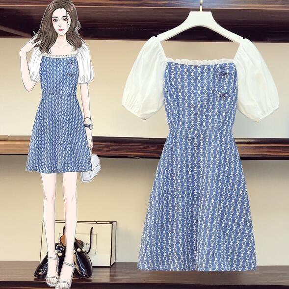 洋裝 連身裙 中大尺碼L-4XL新款時尚復古遮肉顯瘦旗袍改良款連衣裙4F093-3726.胖胖美依