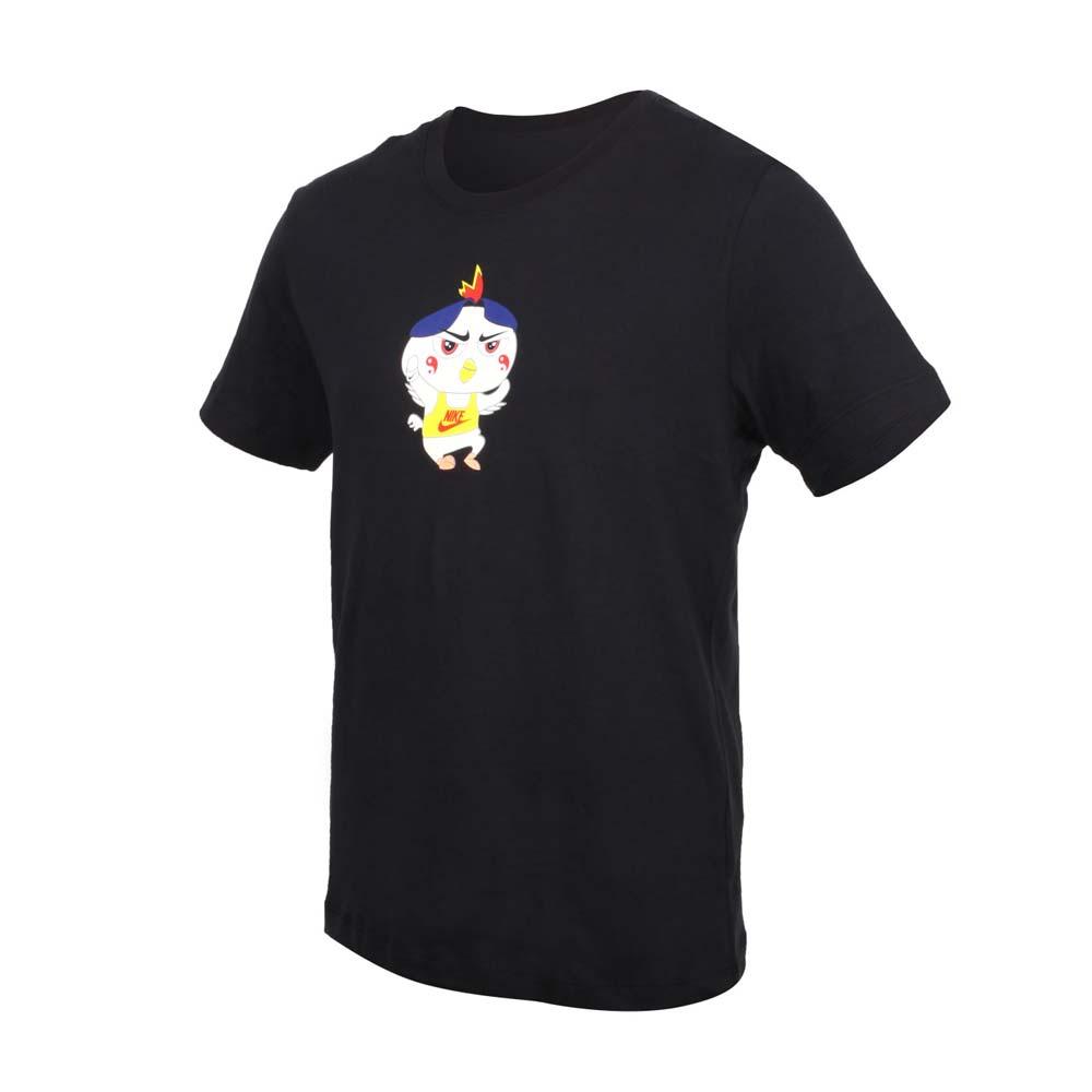 NIKE 男短袖T恤-純棉 休閒 慢跑 上衣 黑黃紅