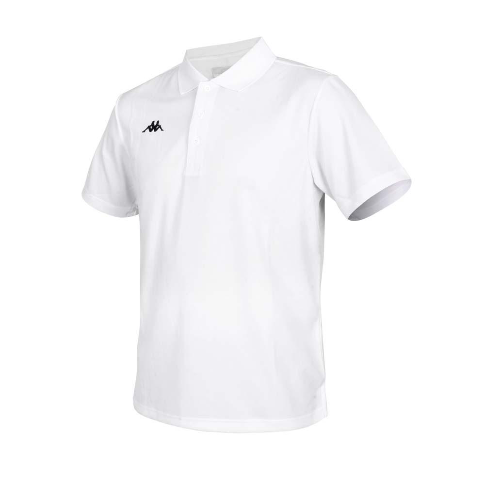 KAPPA 男K4T短袖POLO衫-台灣製 慢跑 高爾夫 網球 吸濕排汗 上衣 白黑