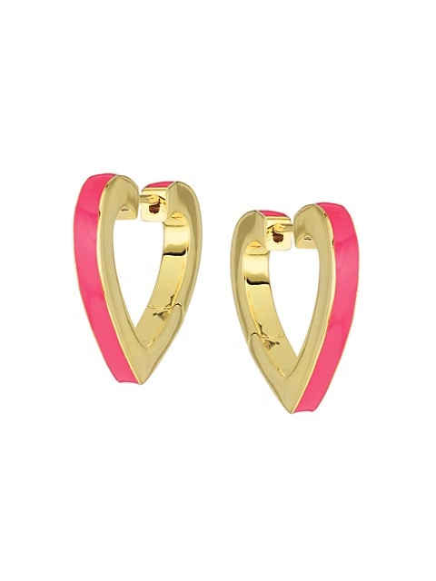 Bridgette Heart Hoop Earrings