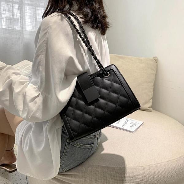 高級感包包2021新款潮小ck單肩斜挎包時尚網紅腋下包女菱格鏈條包 【端午節特惠】
