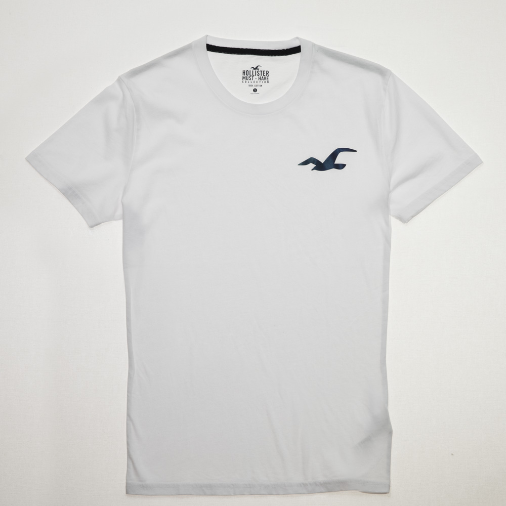 HCO 大海鷗反光LOGO素面短袖T 白色 HO-324-368-0838-100