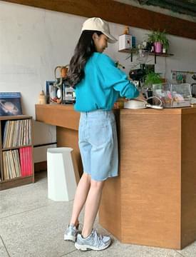 韓國空運 - Emma cutting half denim pants 短褲