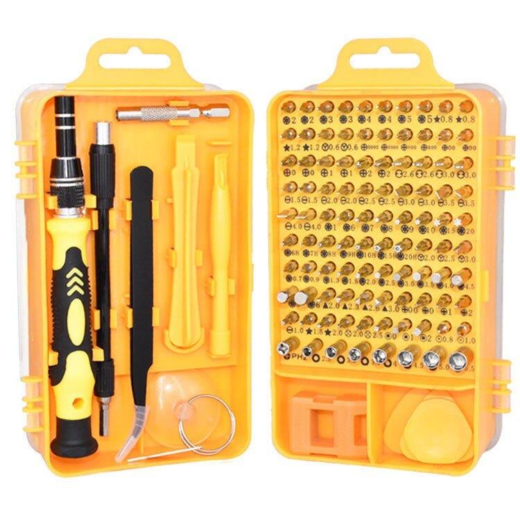 115合1螺絲刀套裝 多功能起子 套筒工具組 鉻釩鋼磁力工具組 加長桿 手機拆機安裝維修手工工具 鐘錶家用電器安裝維修