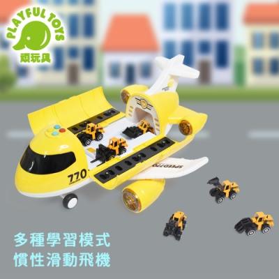 Playful Toys 頑玩具 合金運輸飛機 (迴力工程車)