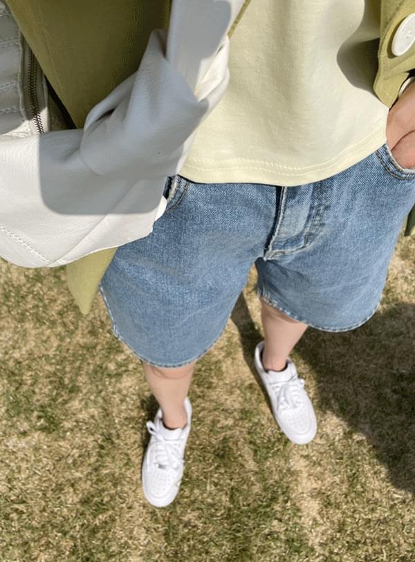 韓國空運 - Denim half pants 短褲