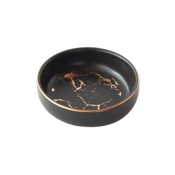 霧金奢華石紋陶瓷3吋味碟 黑