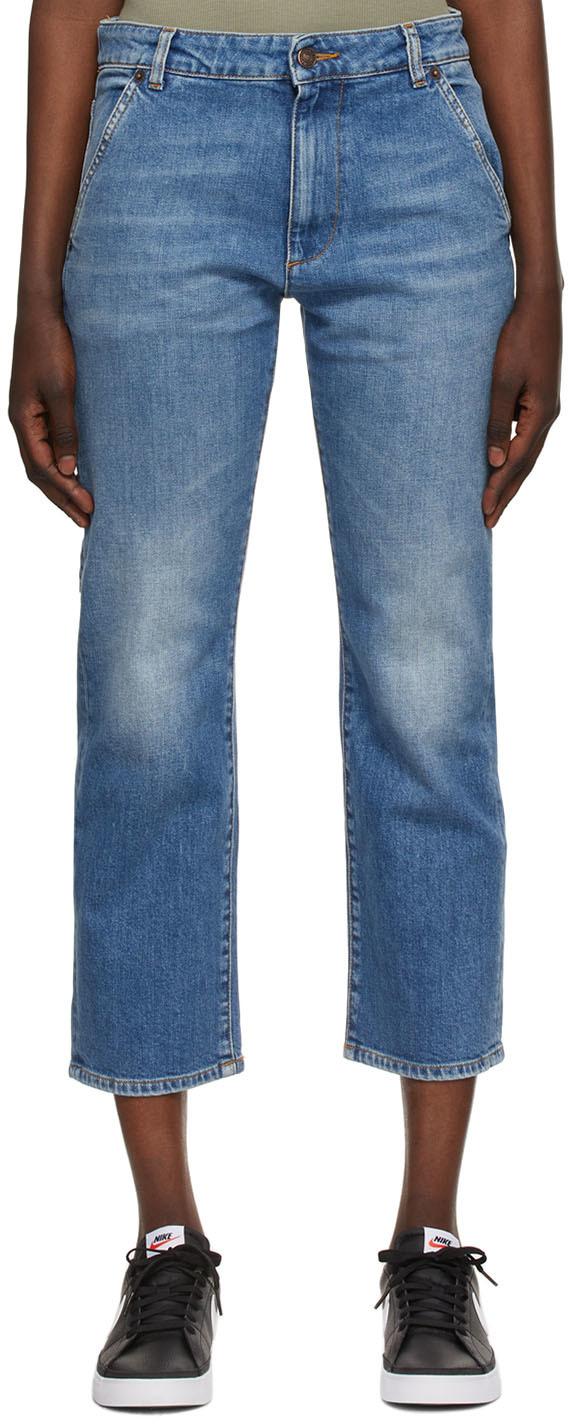 6397 蓝色 Carpenter 牛仔裤