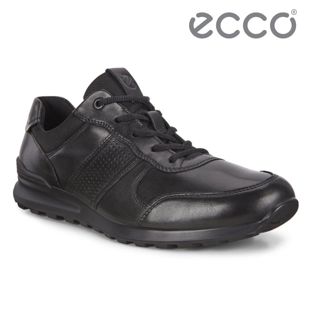 ECCO CS20 M 皮革運動風休閒鞋 網路獨家 男鞋(黑色 85721401001)