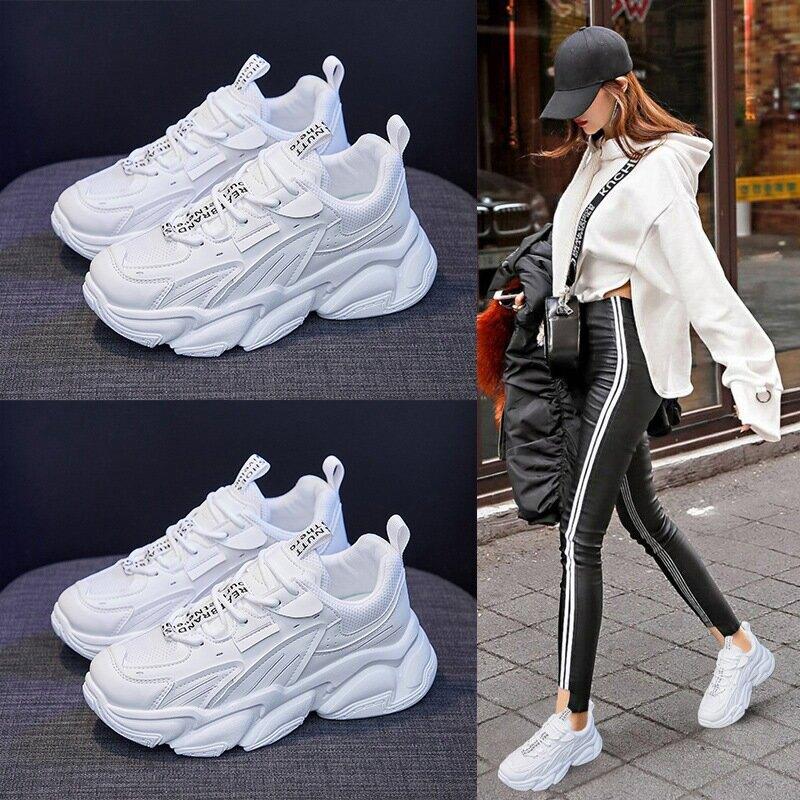 ins韓版老爹女鞋2021春季新款百搭厚底鬆糕運動鞋女學生網紅鞋171