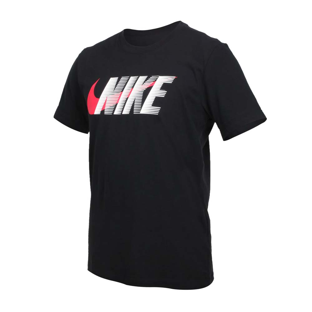 NIKE 男短袖T恤-DRI-FIT 休閒 慢跑 上衣 黑紅白