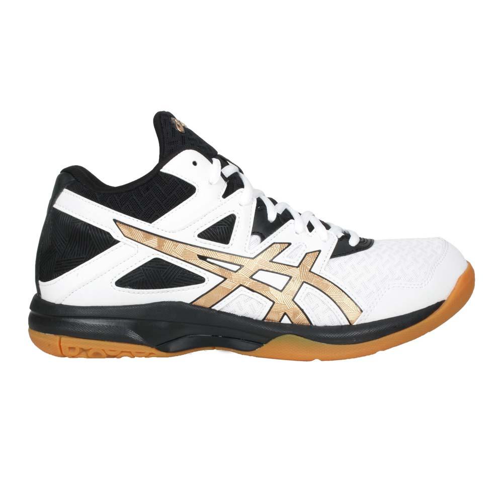 ASICS GEL-TASK MT 2 男排羽球鞋-中筒 運動 亞瑟士 白黑金