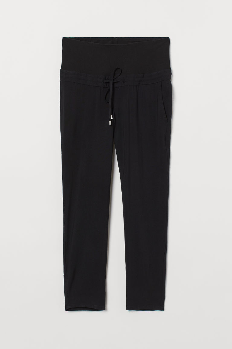 H & M - MAMA 鬆緊式長褲 - 黑色