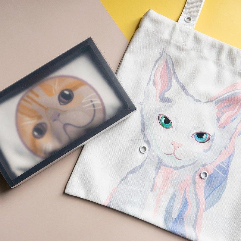 春遊環保袋 雙面插畫帆布包-春夏任選白色組合 (內含組合限定款)
